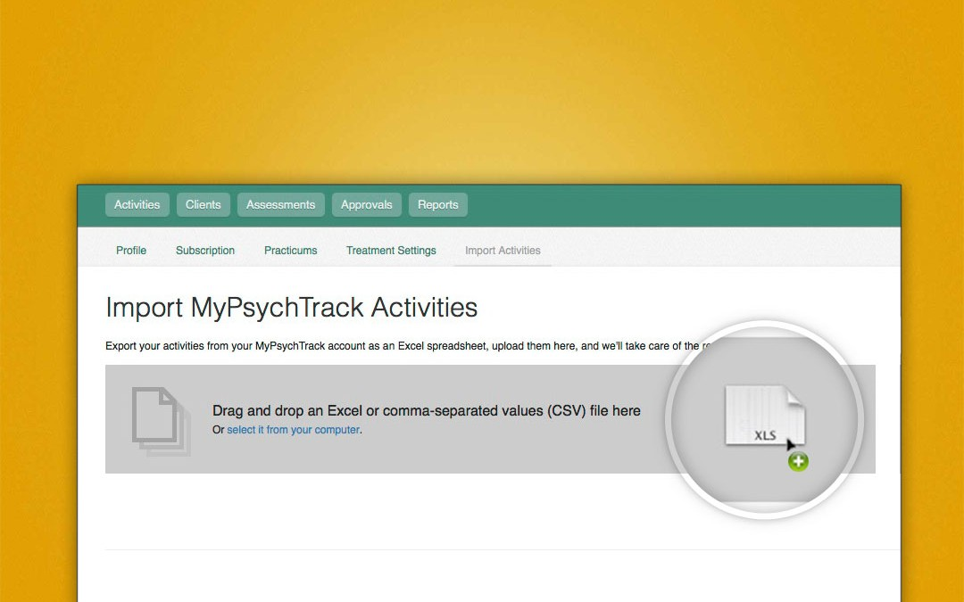 Import your MyPsychTrack data into Time2Track
